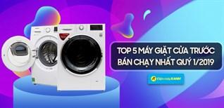 Top 5 máy giặt cửa trước bán chạy nhất Điện máy XANH quý 1/2019