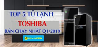 Top 5 tủ lạnh Toshiba bán chạy nhất Điện máy XANH quý 1/2019