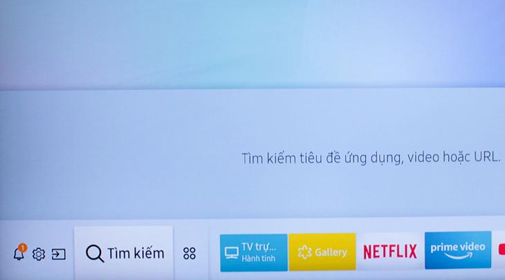 Giao diện chính của tivi Samsung