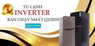 Top 5 tủ lạnh Inverter bán chạy nhất Điện máy XANH quý 1/2019
