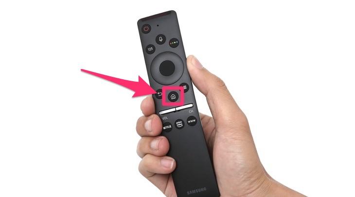 Nút Home trên Remote thông minh