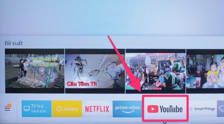 Ứng dụng Youtube trên tivi