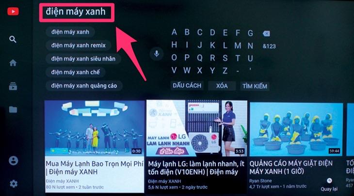 Tìm kiếm bằng giọng nói trên Smart tivi Samsung