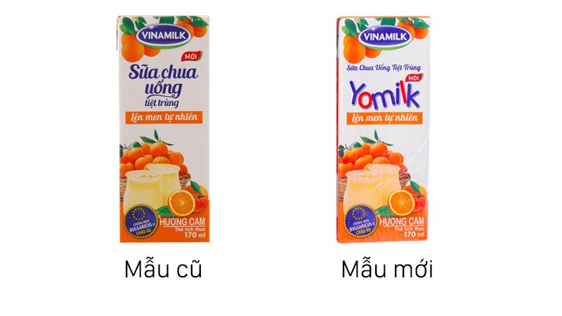 Sữa chua uống vinamilk yomilk vị cam