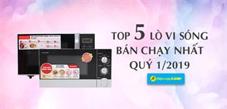 Top 5 lò vi sóng bán chạy nhất Điện máy XANH quý 1/2019