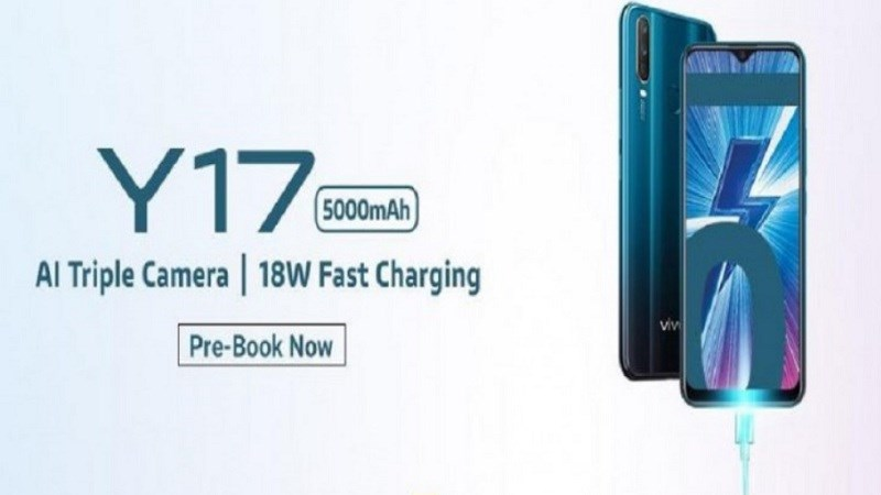 Vivo Y17 ra mắt: Pin 5.000 mAh, 3 camera sau, camera selfie 20 MP