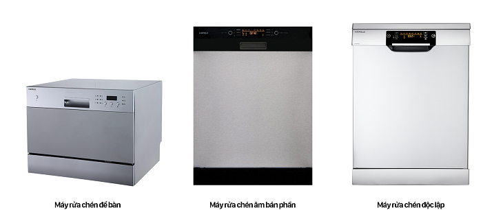 các loại máy rửa chén