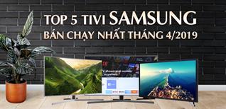 Top 5 tivi Samsung bán chạy nhất Điện máy XANH tháng 4/2019