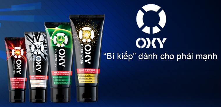OXY - Thương hiệu trị mụn dành cho nam giới
