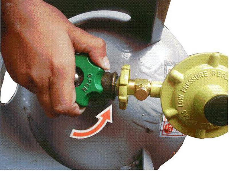 Khoá van gas ngay khi phát hiện có khí gas