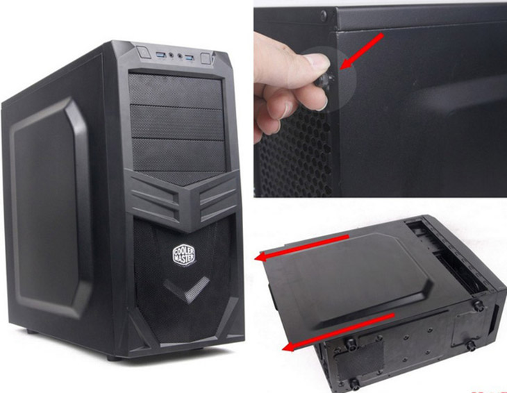 Tháo vỏ case máy tính