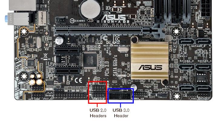 Cổng USB 2.0 và cổng USB 3.0.