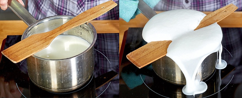 Mẹo đun sôi sữa