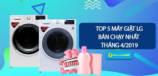 Top 5 máy giặt LG bán chạy nhất Điện máy XANH tháng 4/2019