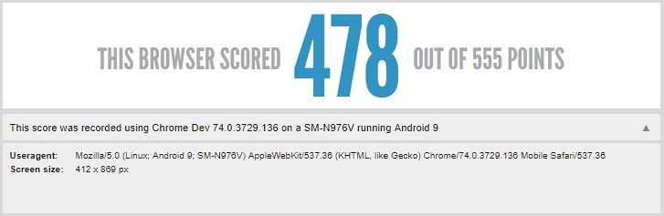 Galaxy Note 10 lộ thông tin dùng màn hình tỷ lệ 19:9 trên HTML5test