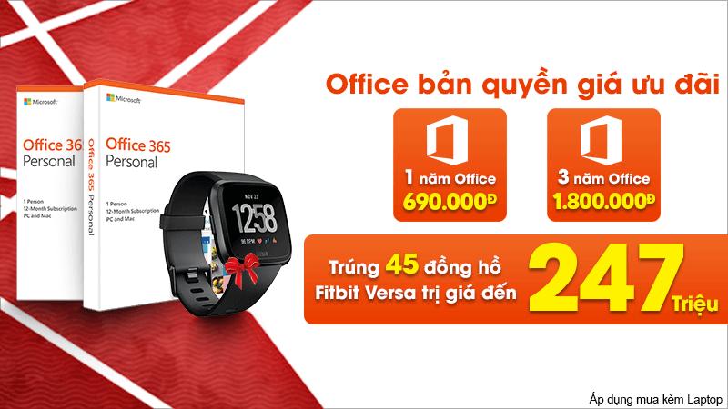 Mua Office bản quyền trúng đồng hồ thông minh