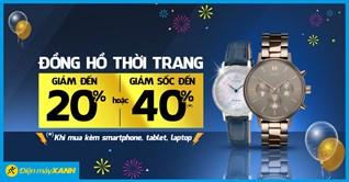 Đồng hồ thời trang được giảm giá 40% khi mua kèm Tivi, Máy Giặt, Máy lạnh, Tủ lạnh