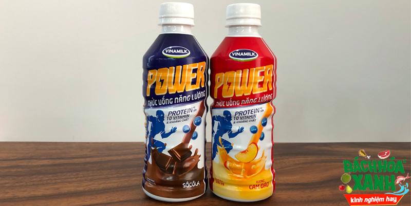 Trên tay thức uống năng lượng Power - Hương cam đào và socola