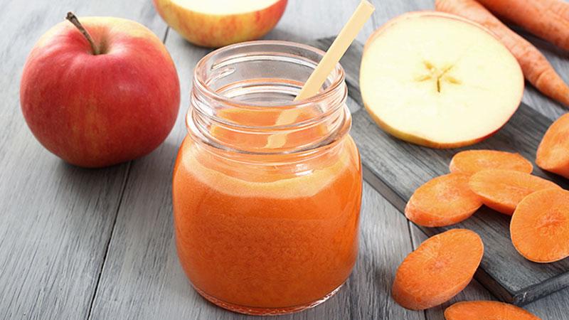 Nước ép táo cà rốt