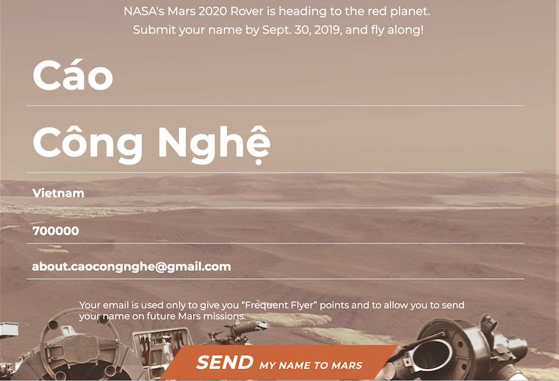 NASA gửi lời mời mọi người trên trái đất tham gia dự án thám hiểm Sao Hoả - ảnh 2