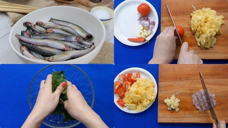 Sơ chế nguyên liệu nấu lẩu cá kèo lá giang