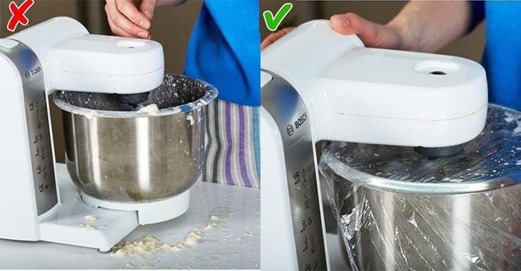 Đánh bột sạch sẽ, không rơi vãi bột xung quanh