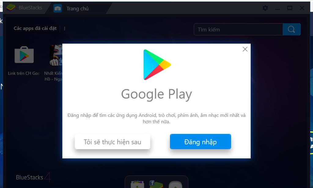 Truy cập tài khoản Google Play