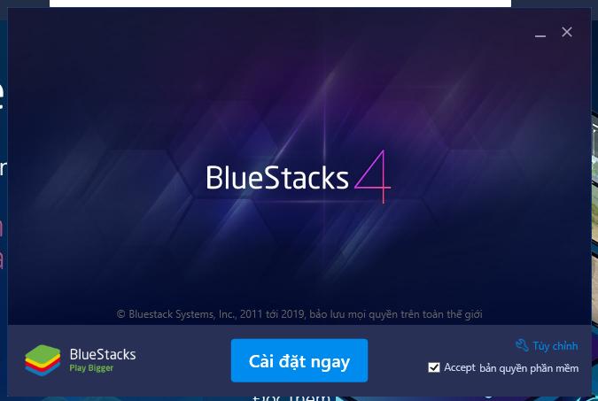 Cài đặt ứng dụng BlueStacks