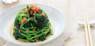 Tổng hợp các món ăn ngon từ cải bó xôi