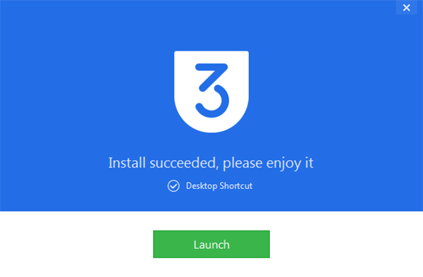 Nhấn vào Launch để khởi chạy ứng dụng 3uTools