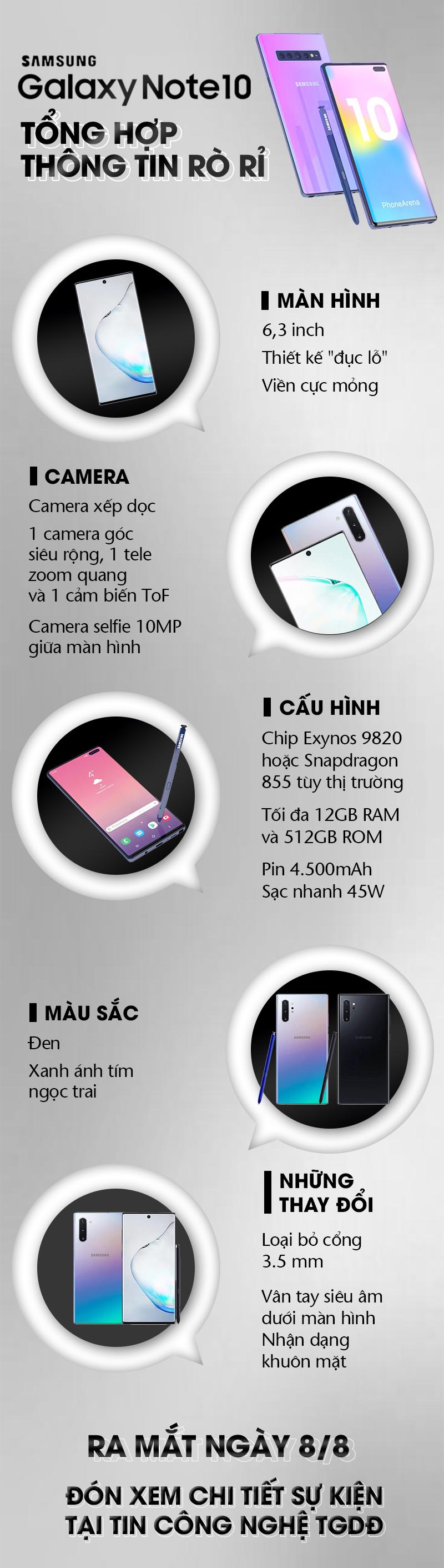 Samsung galaxy Note 10 ra mắt