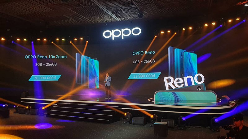 giá bán OPPO Reno và Reno 10x Zoom ra mắt