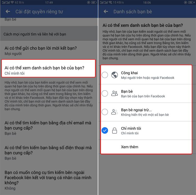 ẩn facebook