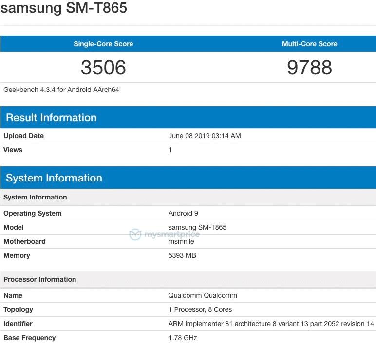 Tablet mới của Samsung chạy Snapdragon 855 xuất hiện trên Geekbench