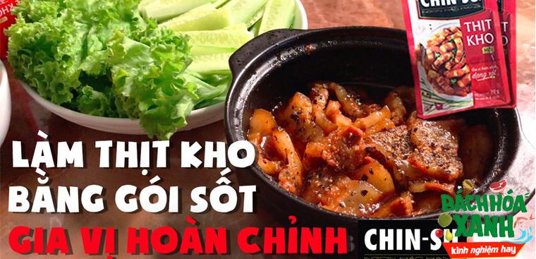 Thử làm thịt kho bằng gói gia vị Chinsu và nhận cái kết ngoài mong đợi