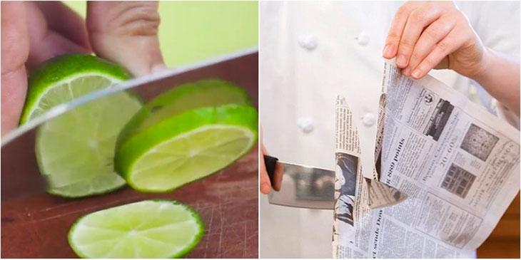 Mẹo mài dao bằng giấy báo cực hiệu quả không phải ai cũng biết