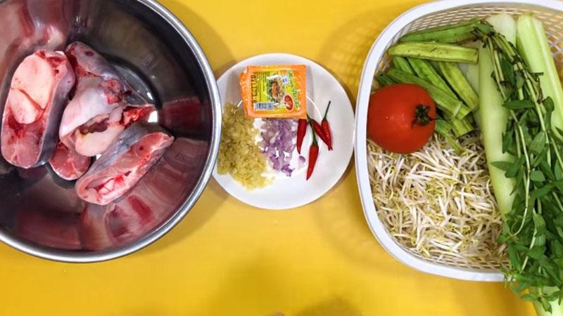 Nguyên liệu nấu canh chua cá hú