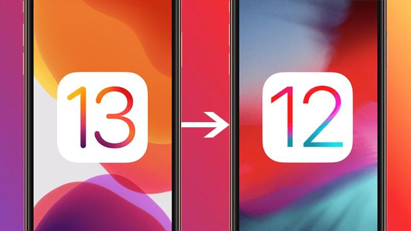 hạ cấp iOS 13 về iOS 12