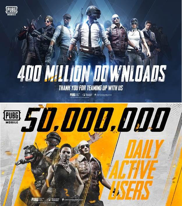 PUBG Mobile đạt 400 triệu lượt tải xuống, 50 triệu người dùng mỗi ngày