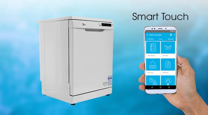 Công nghệ Smart touch kết nối máy rửa chén với điện thoại