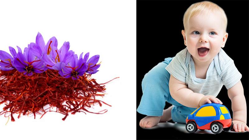 Trẻ em sử dụng nhuỵ hoa nghệ tây được không