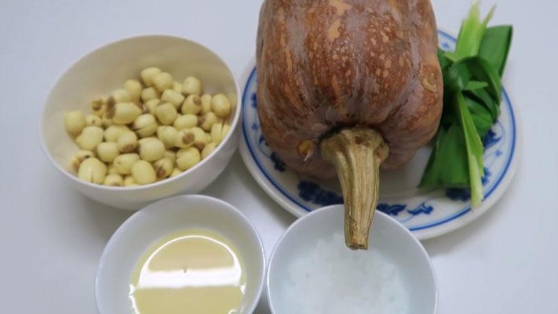 Nguyên liệu nấu món sữa bí đỏ