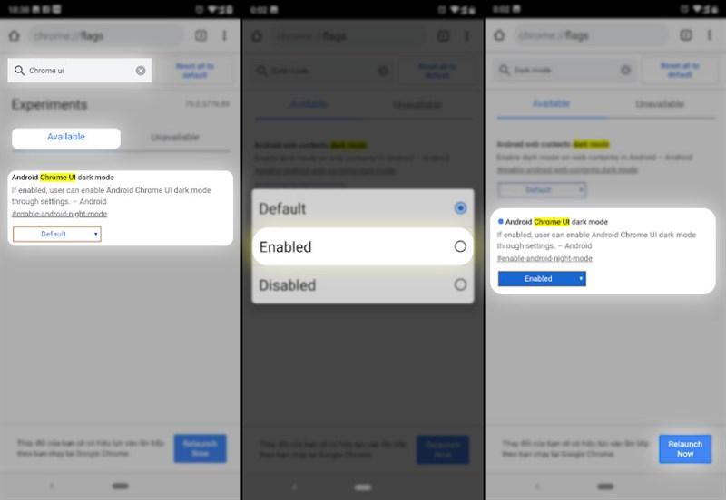 Hướng dẫn kích hoạt Dark Mode cho trình duyệt Chrome Android