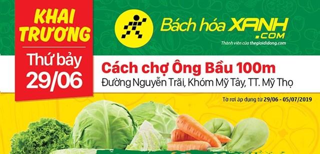 Siêu thị Bách hoá XANH Đường Nguyễn Trãi khai trương 29/6/2019