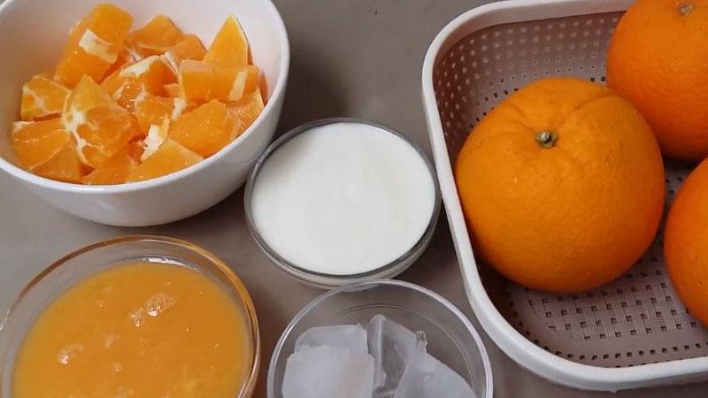 Nguyên liệu làm sinh tố cam
