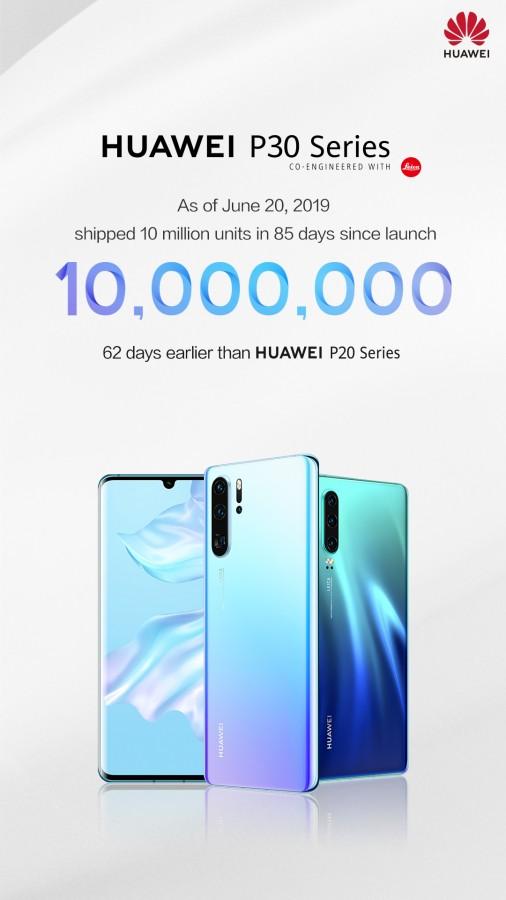 Huawei P30 series đạt doanh số 10 triệu chiếc sau 85 ngày bán ra