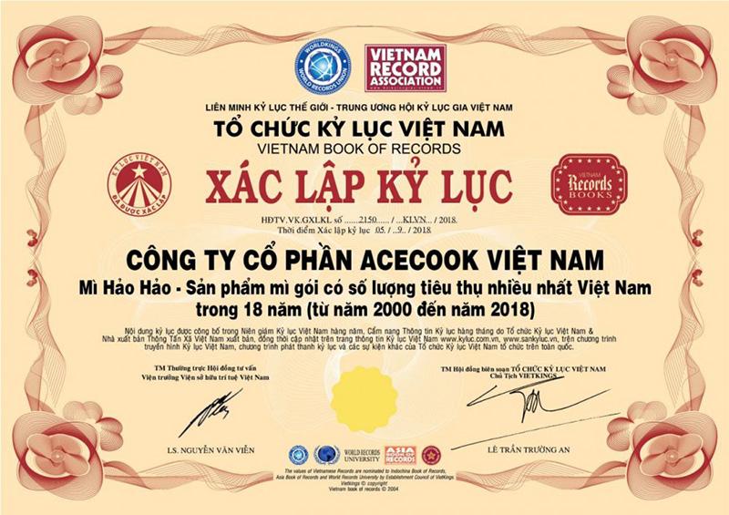 Hảo Hảo đạt kỷ lục mì gói có số lượng tiêu thụ nhiều nhất Việt Nam trong 18 năm