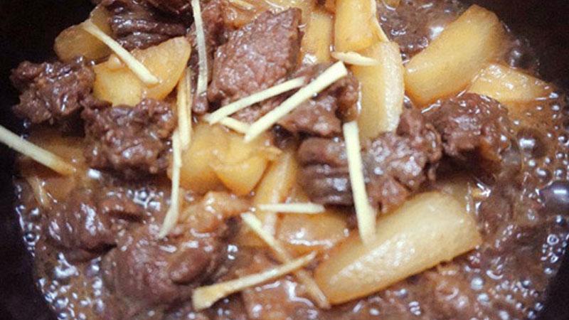 Cách làm bò kho củ cải mềm ngon