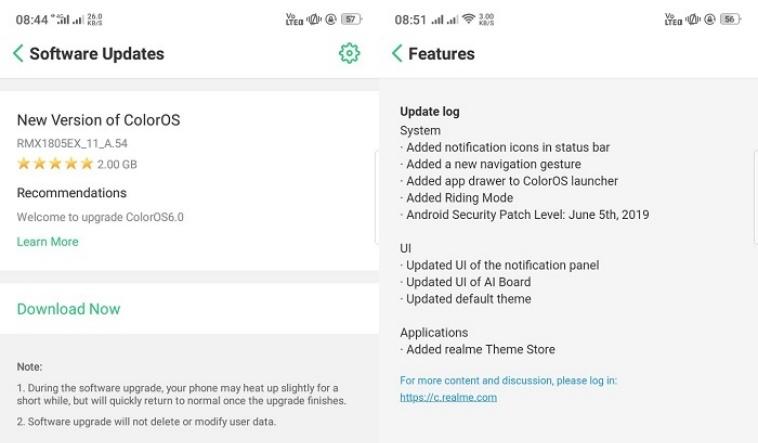 Realme 2 bắt đầu được cập nhật Android Pie với giao diện ColorOS 6