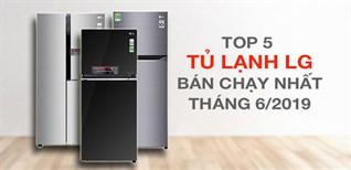 Top 5 tủ lạnh LG bán chạy nhất Điện máy XANH tháng 6/2019